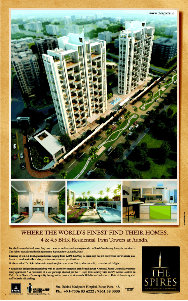 The Spires Twin Towers 4 BHK 4.5 BHK Flats behind Medipoint Hospital Baner Pune 411 045 2 (2-11-2013)