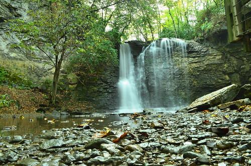 autumn columbus ohio fall water landscape waterfall haydenrun haydenfalls