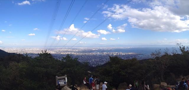 六甲山 風吹岩からの展望