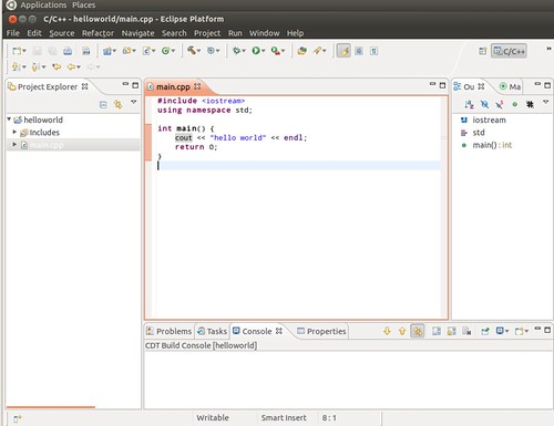 Ubuntu 12.04 Eclipse New C++ Project 6