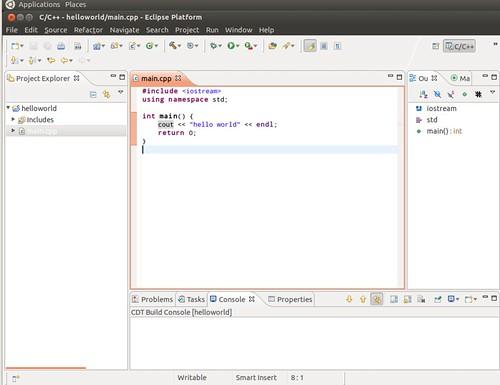 Ubuntu 12.04 Eclipse New C++ Project 6