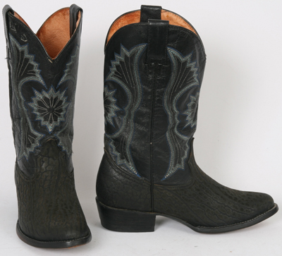 mexican womens 9 5 black leather cowboy western vintage