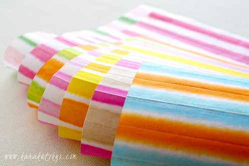 Japanese paper of the colorful striped pattern