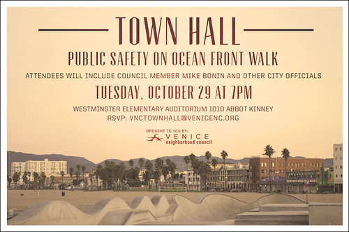 Venice Town Hall on Safety
