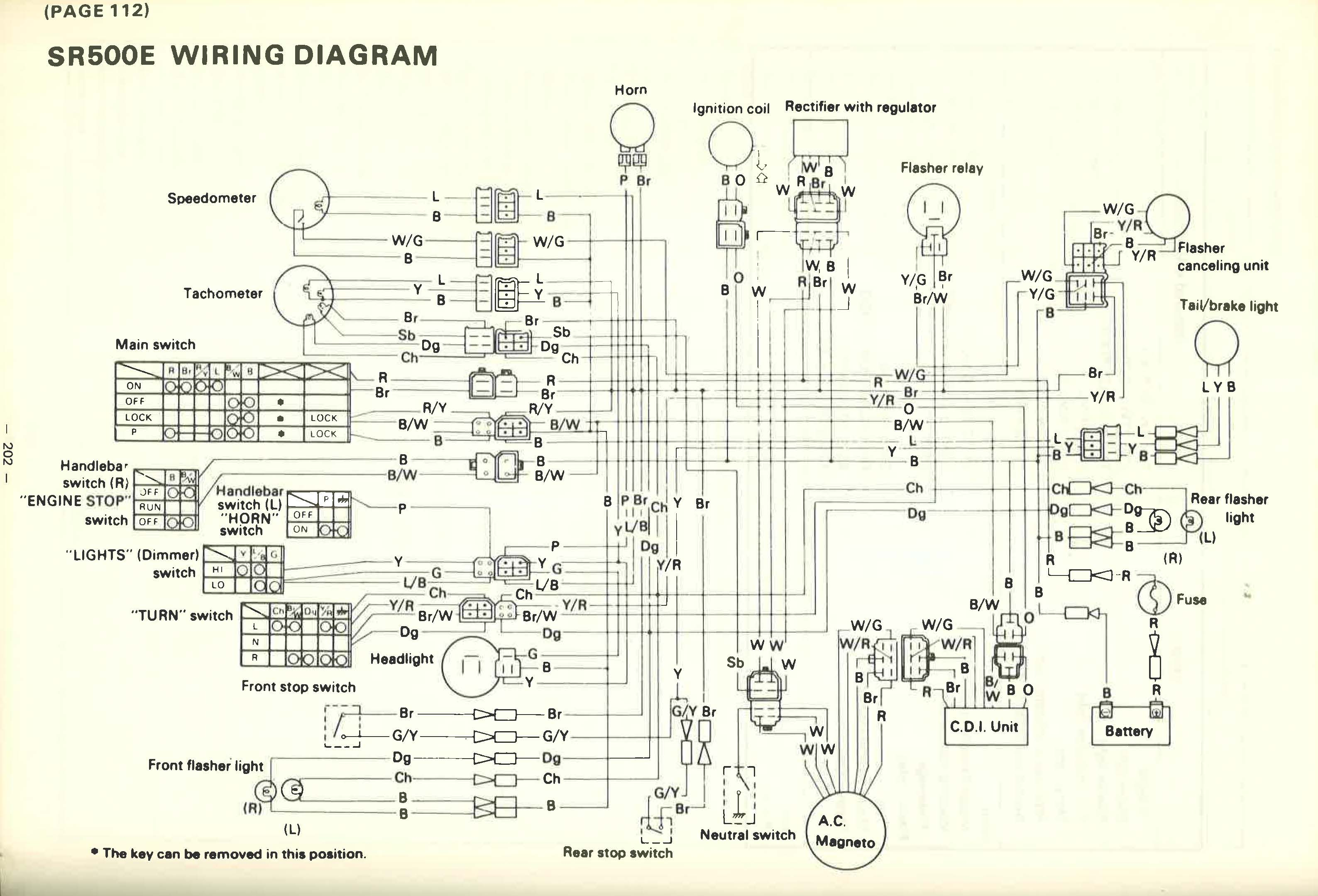 1965 yamaha wiring diagram yamaha sr500e wiring diagram 1965 ford wiring diagram