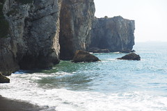 natural arch(0.0), terrain(0.0), cove(0.0), islet(0.0), cape(1.0), sea(1.0), ocean(1.0), bay(1.0), formation(1.0), wind wave(1.0), wave(1.0), shore(1.0), sea cave(1.0), stack(1.0), coast(1.0), rock(1.0), cliff(1.0),