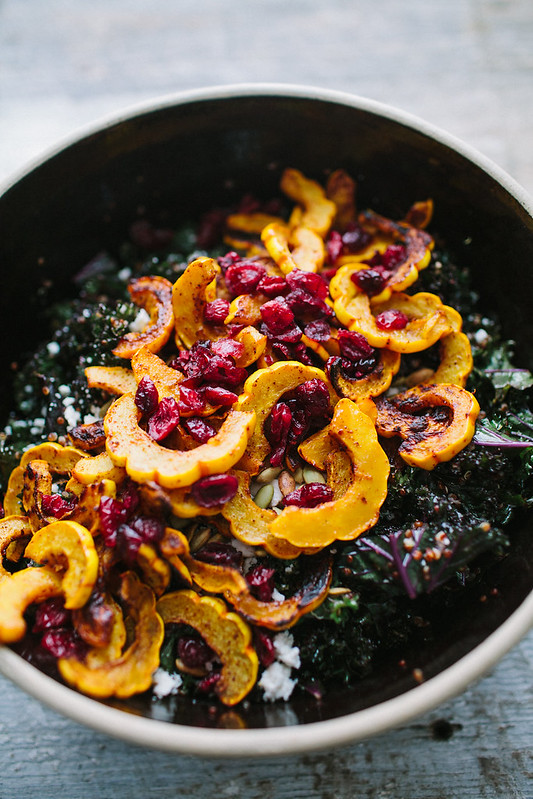 A Big, Beautiful Harvest Salad with Delicata Squash and Kale | The Year in Food