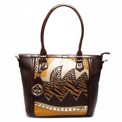 Bohembag cartera brown animal print