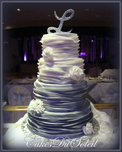 Silver Ombre Wedding Cake