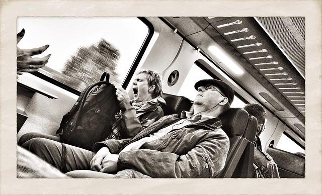 trainpeople: sleeping