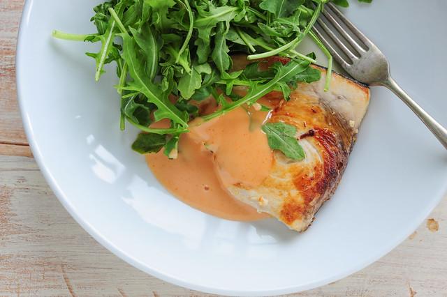 seared swordfish with 'brava' sauce-3
