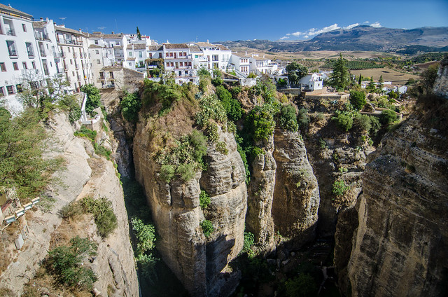 Ronda's El Tajo, viewed from the New Bridge.