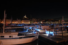 Old Port of Marseille by night