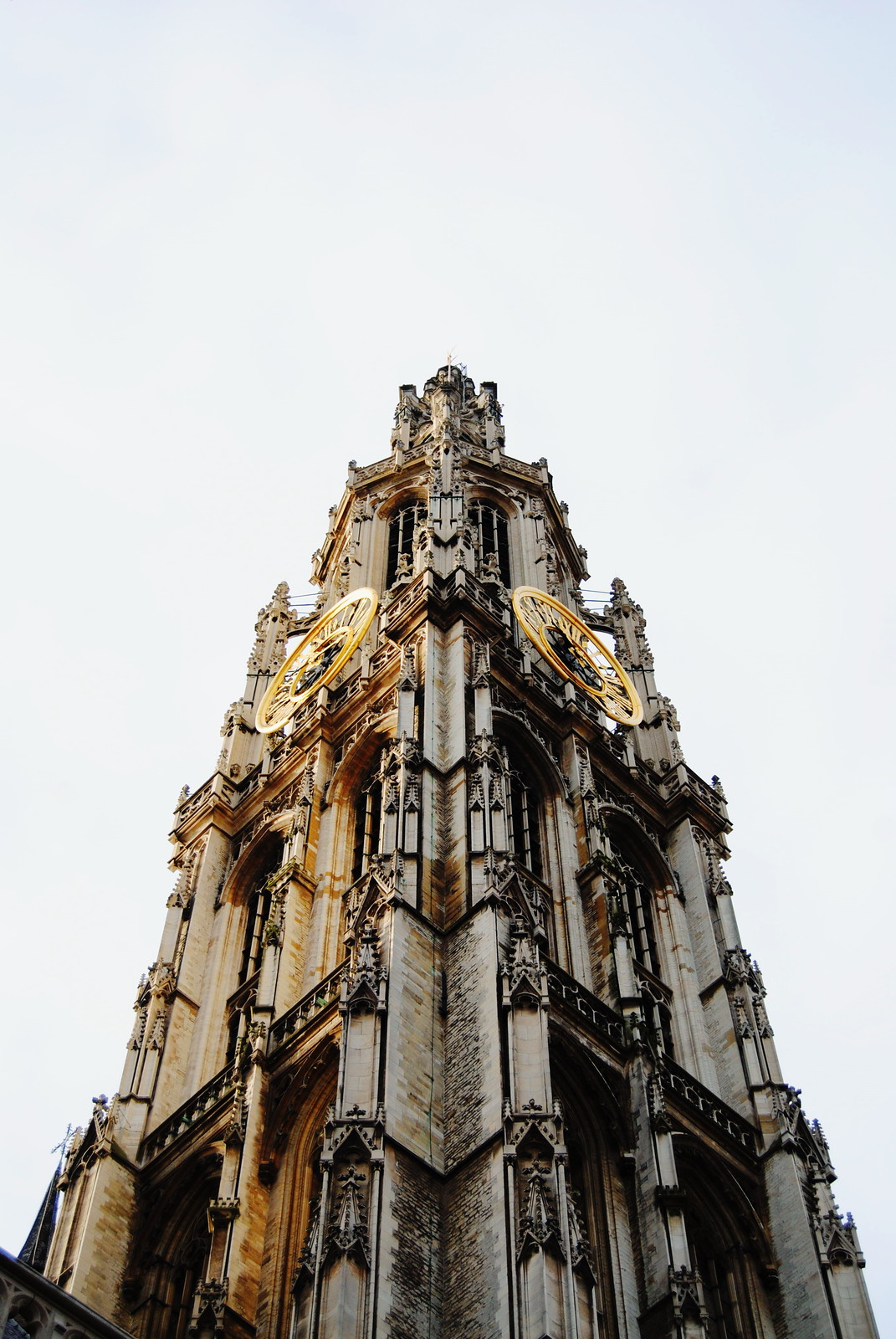 The tower of the cathedral in Antwerp.