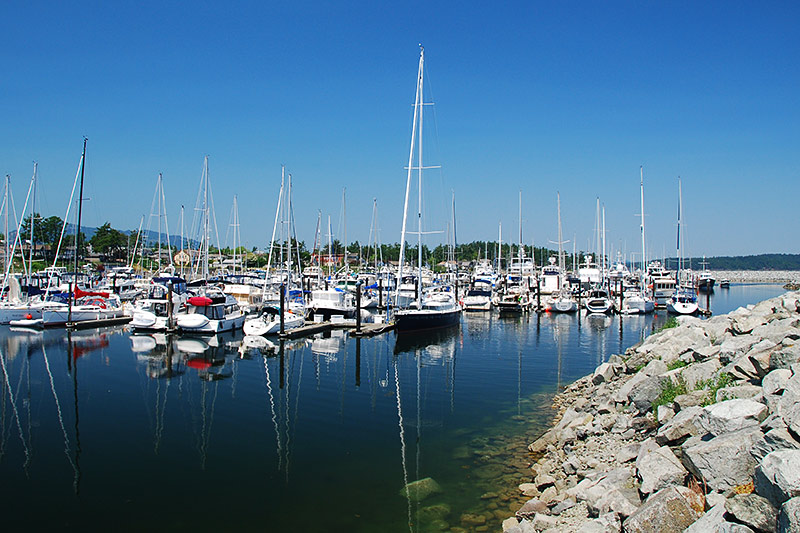 Port Sidney Marina, Sidney, Greater Victoria, Vancouver Island, British Columbia, Canada
