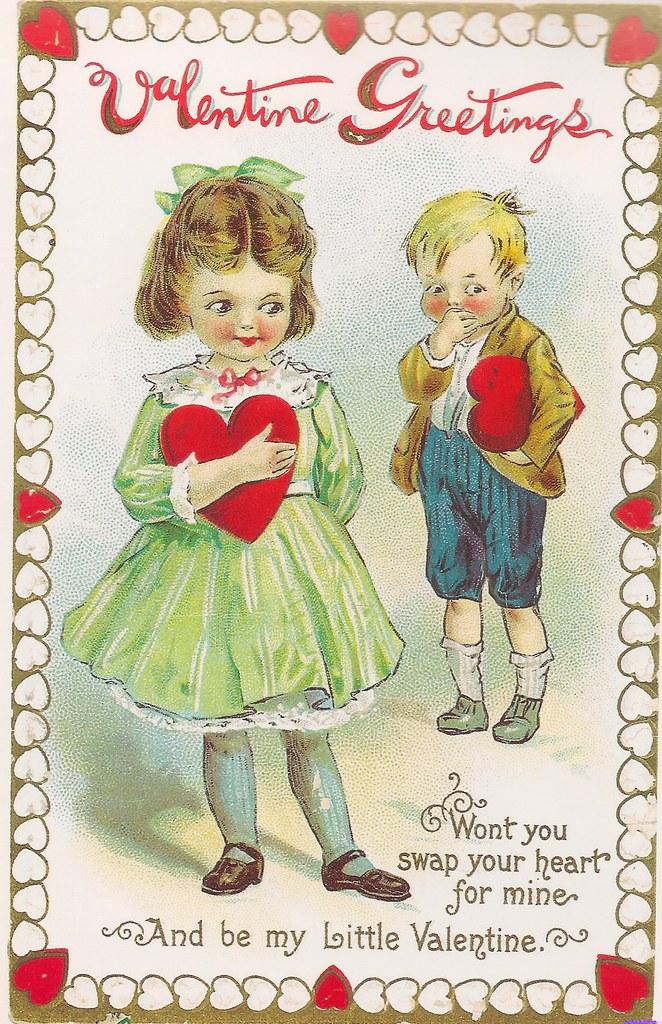 Valentine | Reproduction vintage postcard  No artist listed