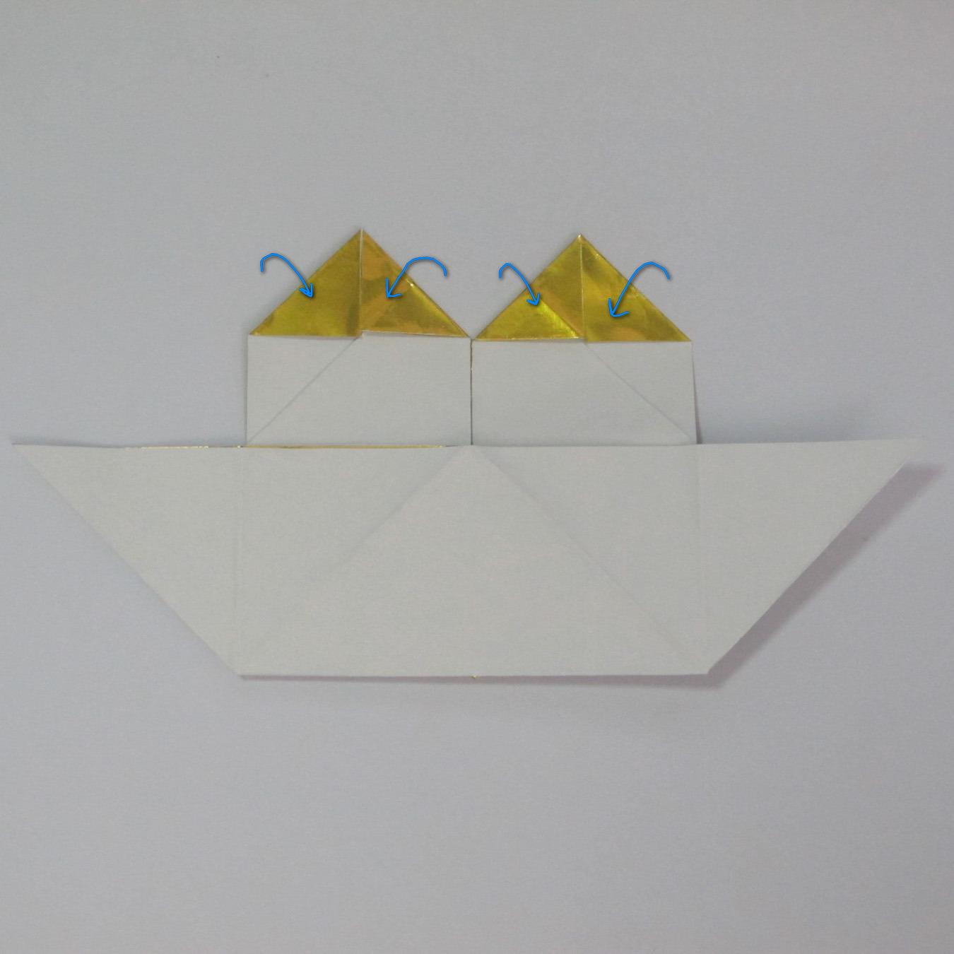 วิธีพับกระดาษเป็นรูปหัวใจติดปีก (Heart Wing Origami) 020