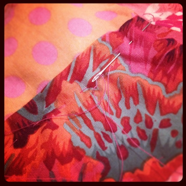 The best part of handquilting is that you are UNDER A QUILT. #snugly #yearofmaking 43/365