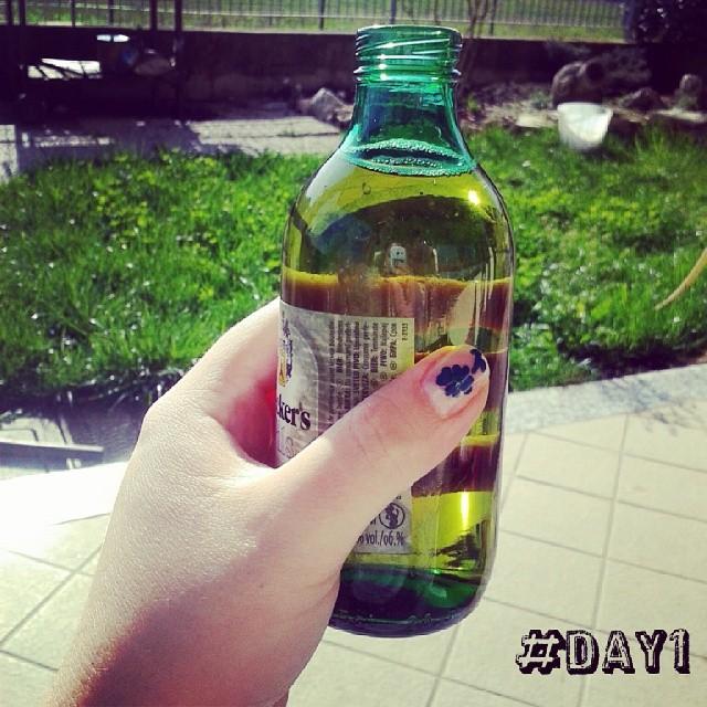 Oggi sono felice,  perché posso betmi una bella birretta al sole, dopo aver fatto tutte le pulizie! #100happydays  #day1 #birra #birretta #birrozza #amoilsabatopomeriggio