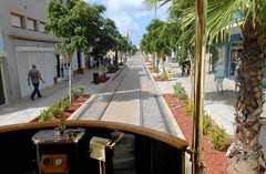 Oranjestad - Driver's View from Trolley