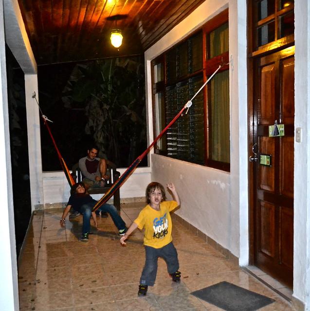 Jaguar Inn Tikal Guatemala porch and hammock