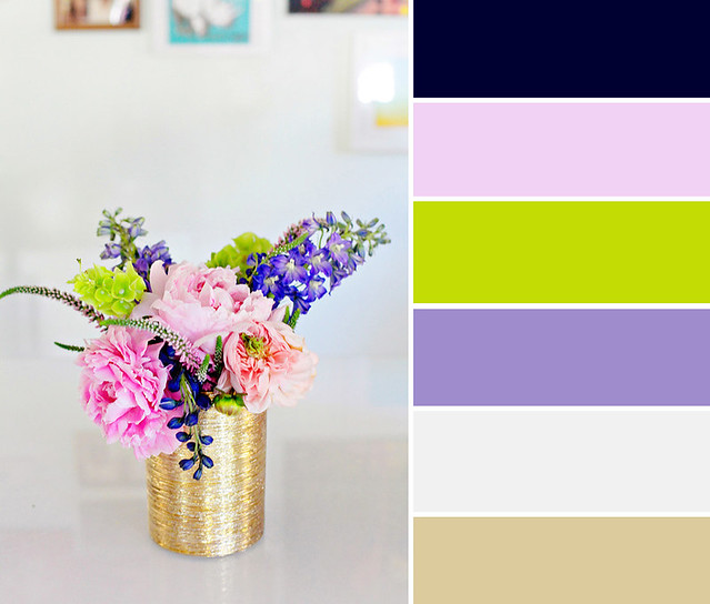 Flower Pink Green Purple Color Palette copy
