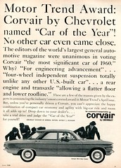 1960 Chevrolet Corvair 700 Advertisement Motor Life June 1960