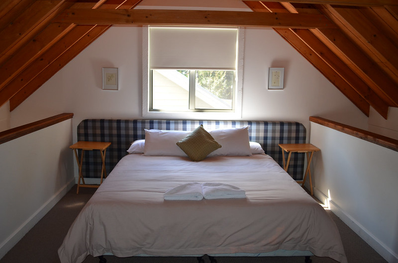 The main bedroom in our wilderness retreat - Tarkine Wilderness - Tasmania
