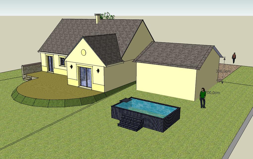 Habitat et ouvrages le technologie en 5eme au coll ge de for Ajouter garage contre maison