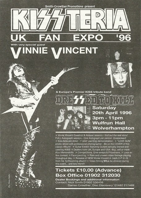 04/20/96 Kissteria UK Fan Expo '96 @ Wulfrun Hall, Wolverhampton, England