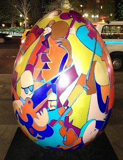 Brooklyn Symphony EGGestra, 2014 - Kayti Didriksen (One of the NYC Big Egg Hunt giant Easter Eggs)