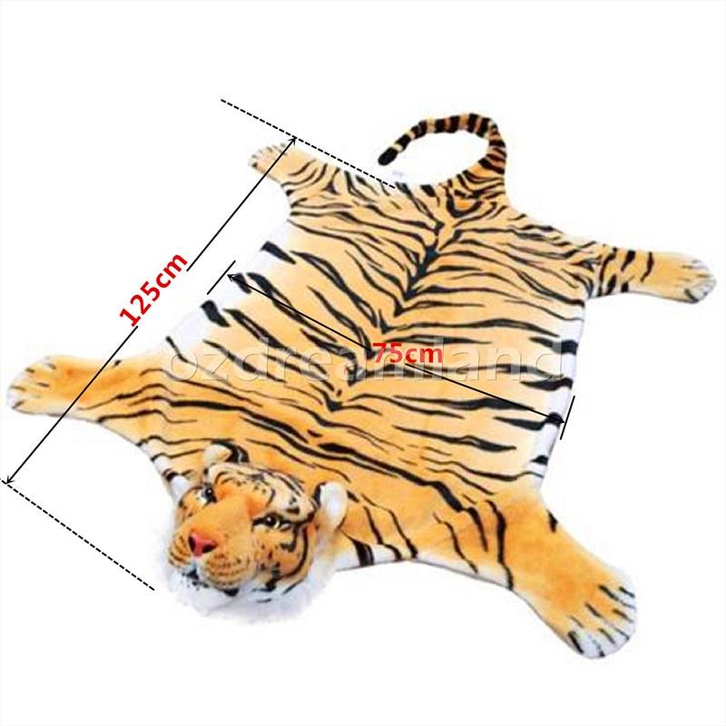 REALISTIC Animal Skin Floor Rug Kids Room TIGER ZEBRA