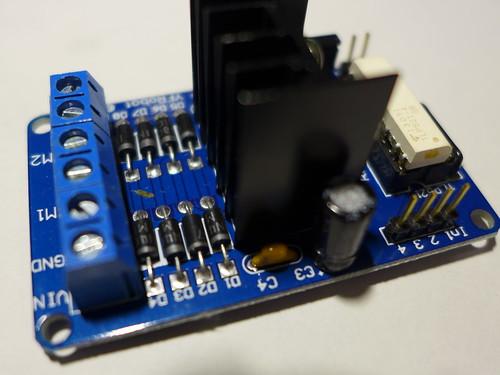 雙H光耦L298N電機控制板