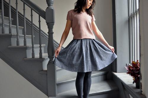 Grainline Studio Scout Tee & Colette Zinnia Skirt
