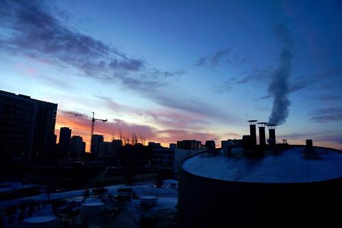 winter chicago sunrise pw