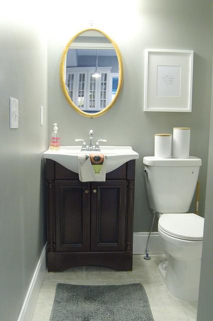 Quick Half Bath Makeover. Half Bathroom   Go Haus Go   A DIY and Design Blog by Emily May
