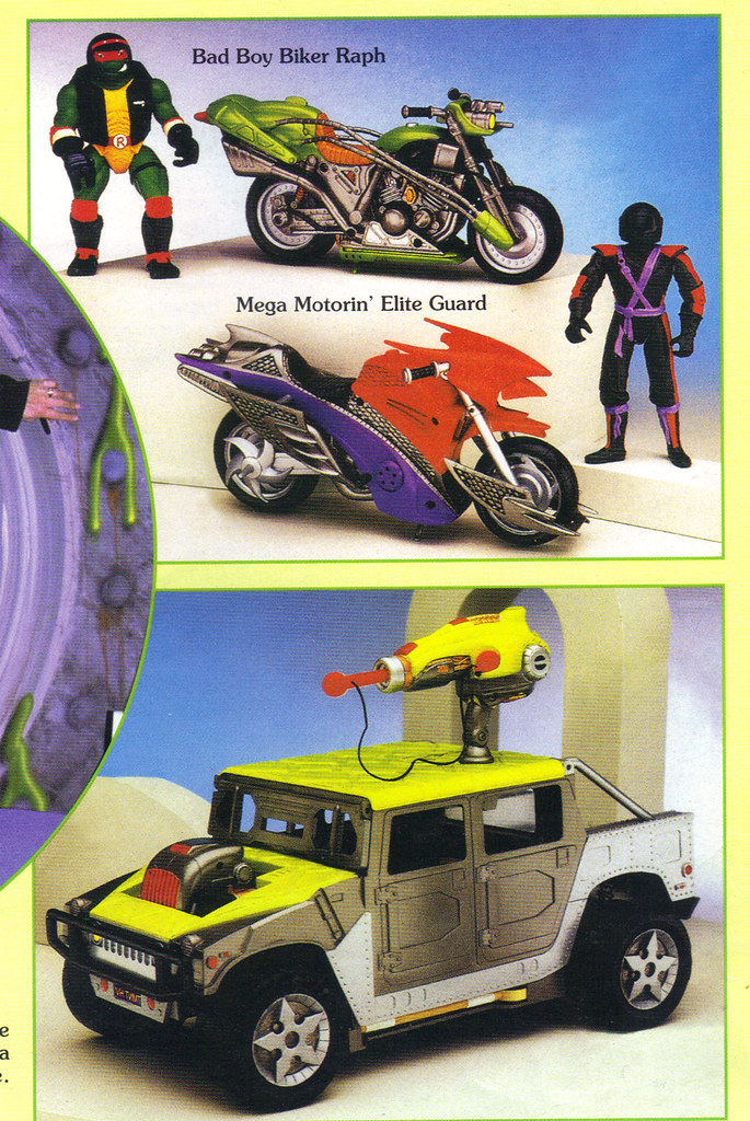 "Tomart's Action Figure Digest #xx :: pgs.26, 27 TOY FAIR '97, PLAYMATES ""NINJA TURTLES: THE NEXT MUTATION / ..early Cycle assortment & 'Mutant Marauder'  (( April 1997 )) by tOkKa"