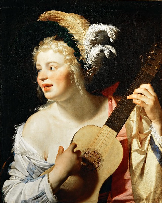 Gerrit van Honthorst - Woman Playing the Guitar (1624)