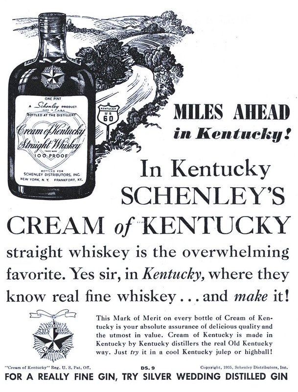 Schenley's Cream of Kentucky Straight Whiskey - published in Collier's - July 20, 1935