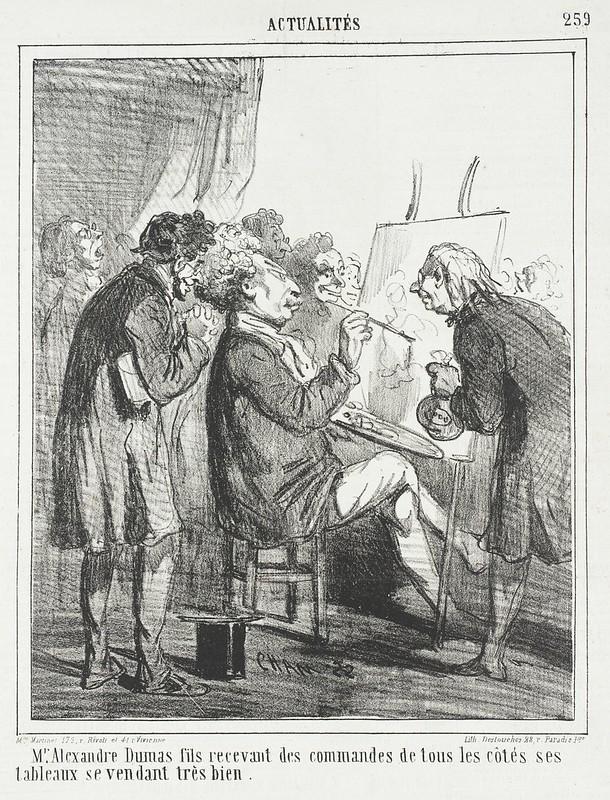 Monsieur Alexandre Dumas fils recevant des commandes de tous les cotes ses tableaux se vendant tres bien LACMA M.76.132.411