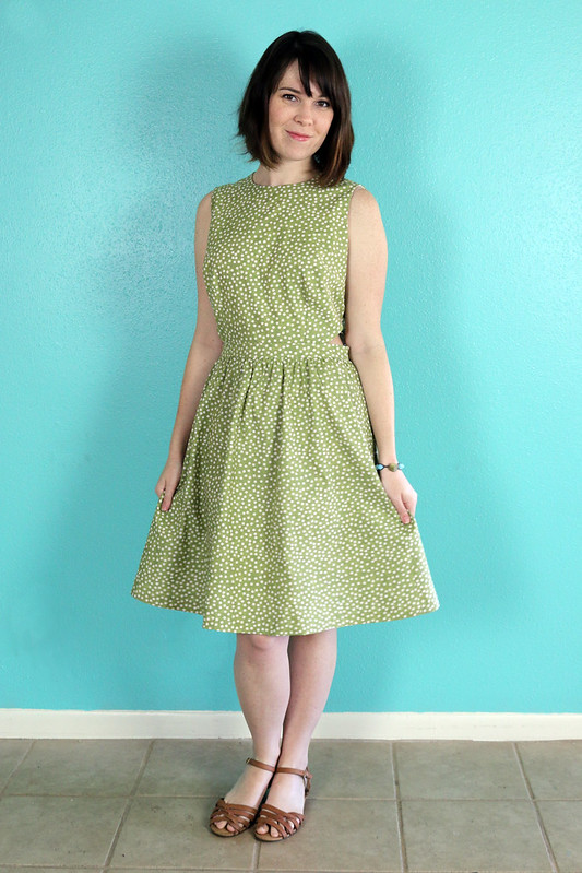 Self Drafted Side Cut-Out Dress