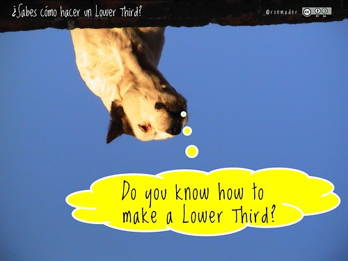 Do you know how to make a Lower Third? = ¿Sabes cómo hacer un Lower Third? #roofdog