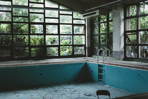Abandoned hospital of pool