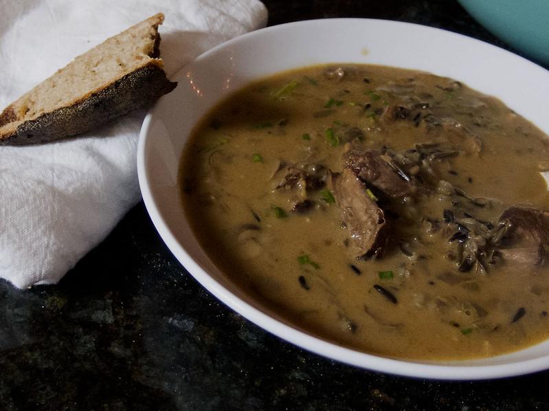 Mushroom wild rice soup