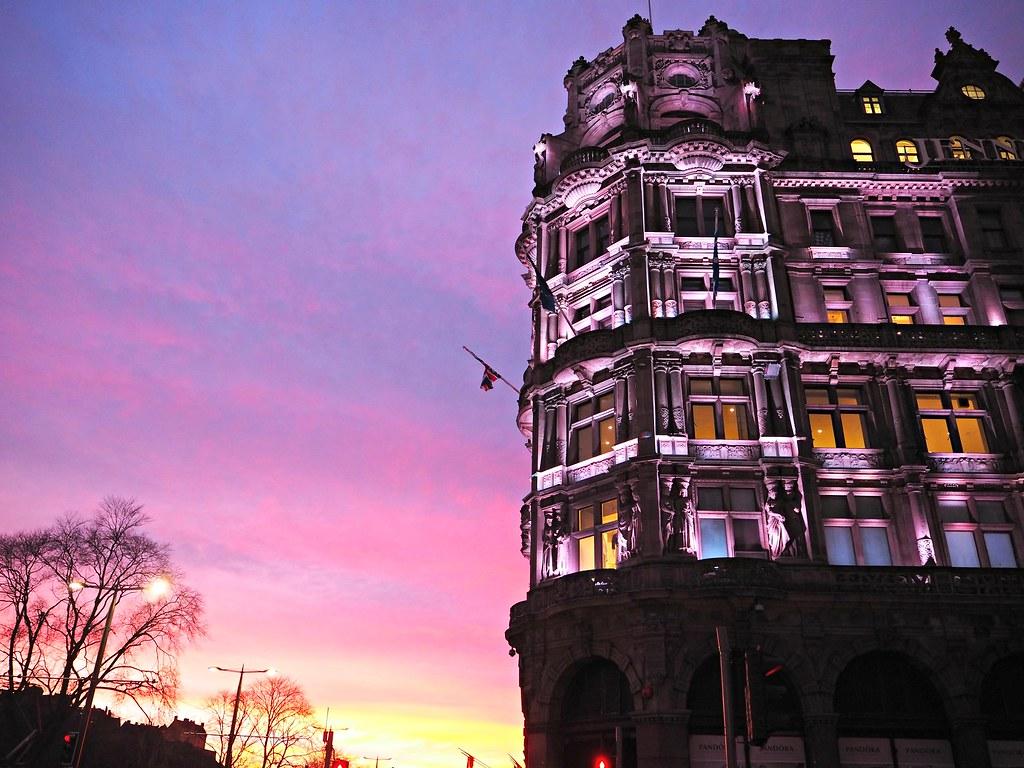 Edinburgh George Square sunset 3