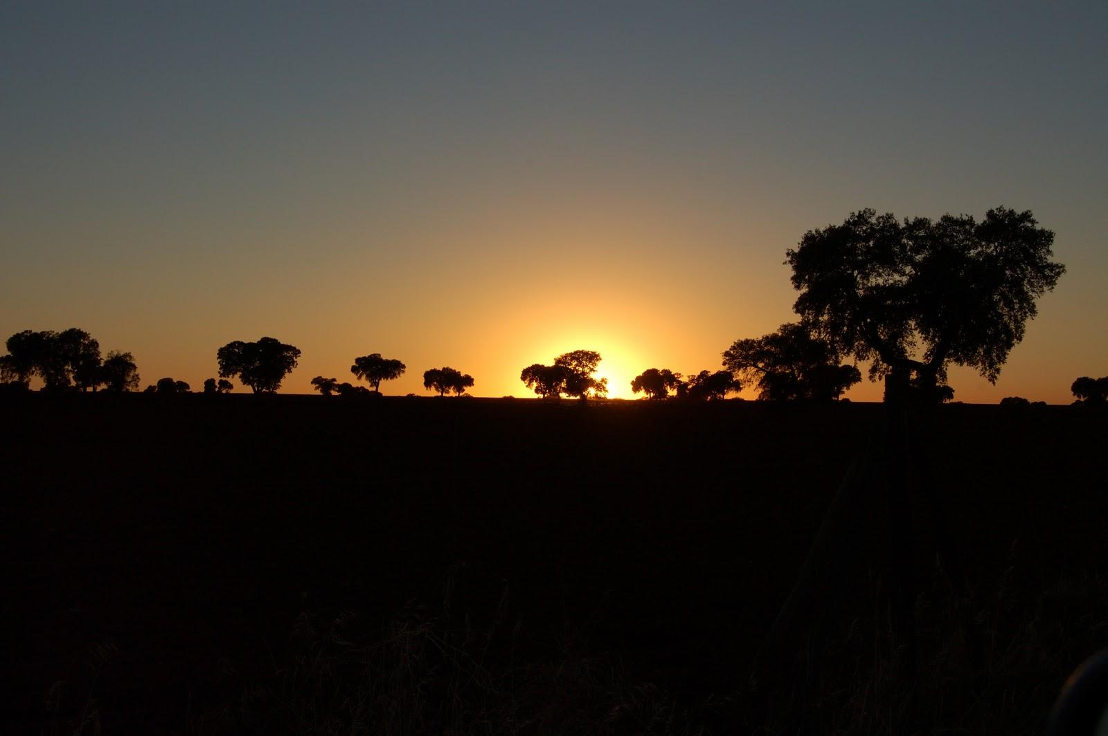 Puesta de sol en el Campo de Montiel