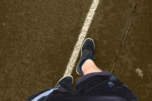 Sepia walking