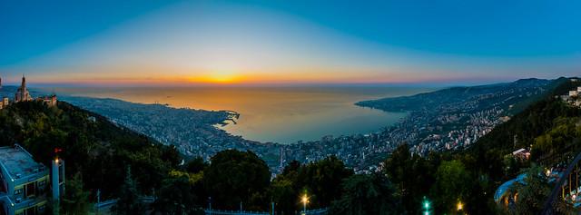 Jounieh Bay Large Pano, Lebanon