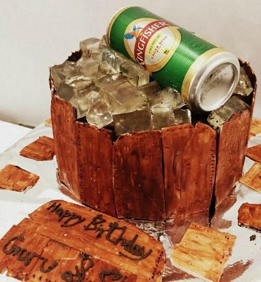Beer Tub Cake by Snehal from TheCakeGuru