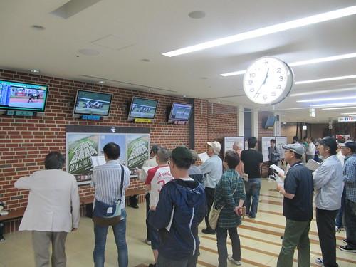 函館競馬場の走路側パトロールビデオ専用モニター